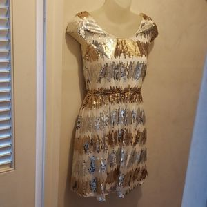 Gold and white, Sequined, rue 21 dress